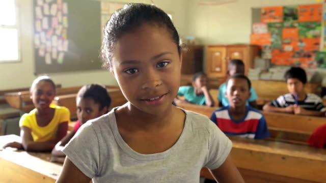 Portrait of a school girl