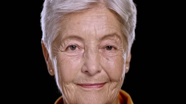portrait of a senior caucasian woman - the ageing process stock videos and b-roll footage