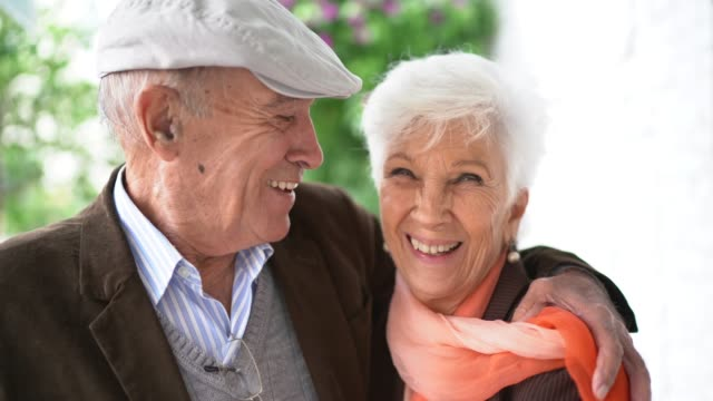portrait of a senior couple - i love you stock videos & royalty-free footage