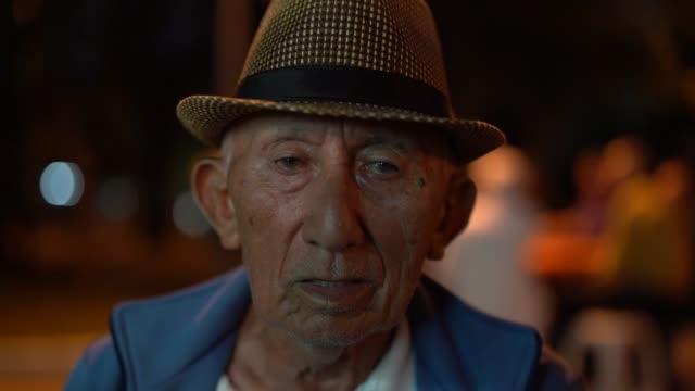 portrait of a senior man looking at the camera - pardo brazilian stock videos & royalty-free footage