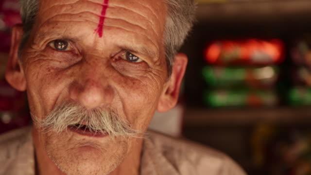 Portrait of a senior man, Rishikesh, Uttarakhand, India