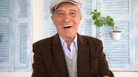 portrait of a senior man - one senior man only stock videos & royalty-free footage