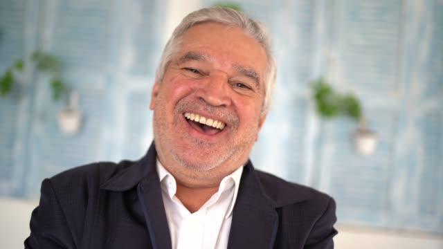 portrait of a senior man - pardo brazilian stock videos & royalty-free footage