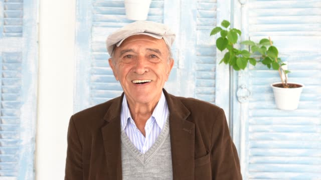 portrait of a senior man - one senior man only stock videos & royalty-free footage