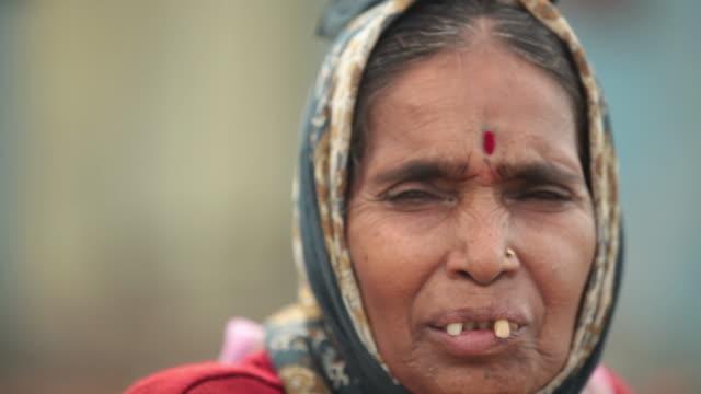 Portrait of a senior woman, Malshej Ghat, Maharashtra, India