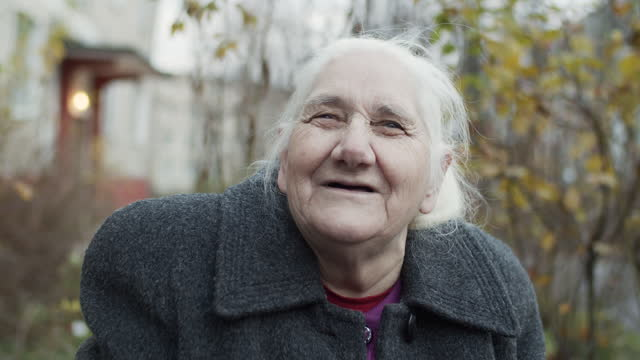 portrait of a senior woman - aging process stock videos & royalty-free footage