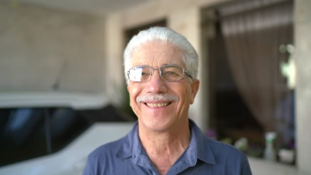 Portrait of a smiling senior at home