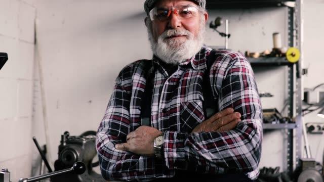 Portrait of a successful senior man Industrial Worker