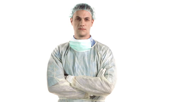 stockvideo's en b-roll-footage met hd dolly: portrait of a surgeon - plastische chirurg