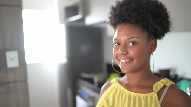 portrait of a teenager girl at home - one teenage girl only stock videos & royalty-free footage