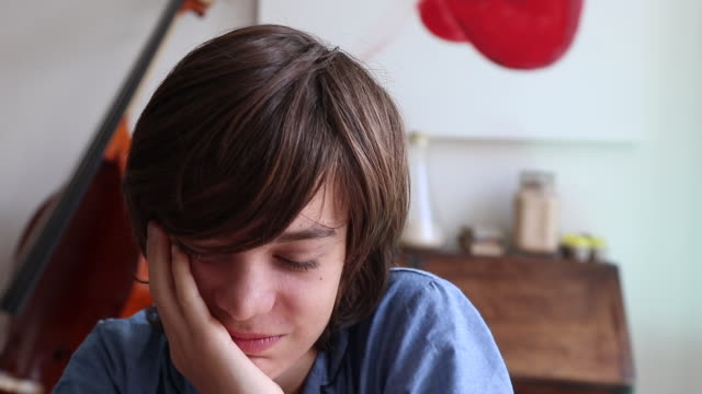 portrait of a teenager with a dental appliance - one teenage boy only stock videos & royalty-free footage