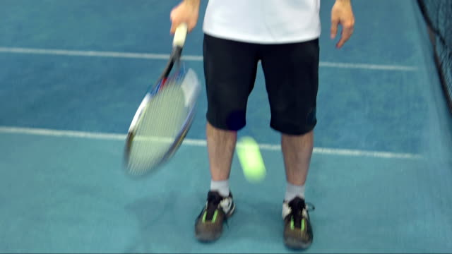 ds tu portrait of a tennis instructor - mature men stock videos & royalty-free footage