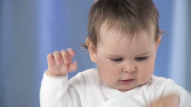 hd slow-motion: portrait of a toddler - one baby girl only stock videos & royalty-free footage