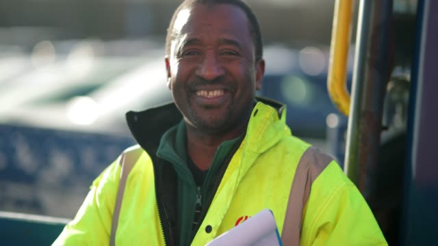 portrait of a truck driver - construction worker stock videos & royalty-free footage