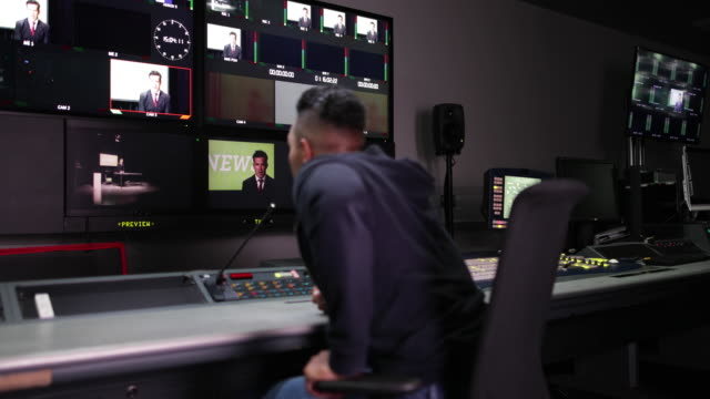 Portrait of a TV Producer in a control room