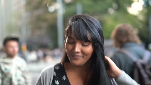 portrait of a young woman in the city - belém brazil stock videos and b-roll footage