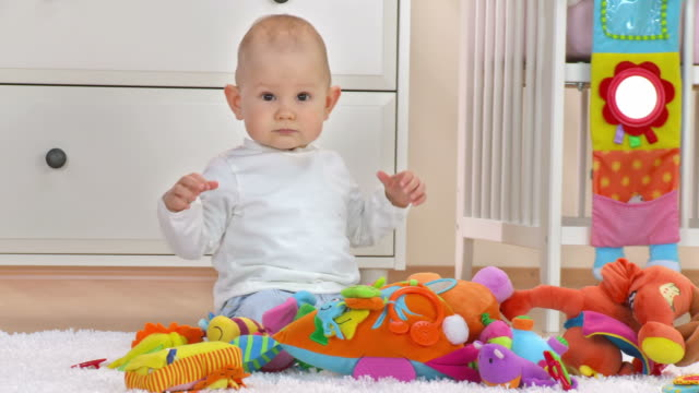 hd dolly: portrait of adorable baby boy - one baby boy only stock videos & royalty-free footage