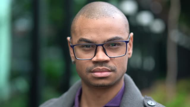 portrait of african businessman outdoors - pardo brazilian stock videos & royalty-free footage