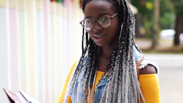 portrait of afro student - geek stock videos & royalty-free footage