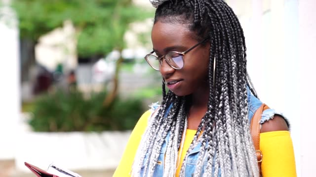 portrait of afro student - strength stock videos & royalty-free footage