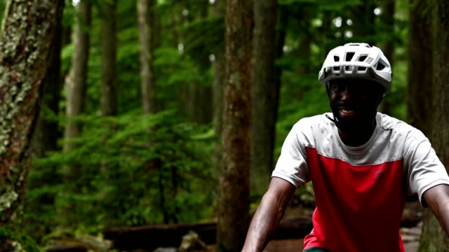 portrait of an active male mountain biking - mountain bike stock videos & royalty-free footage