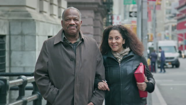 Portrait of an African-American Senior Couple in an Urban Setting