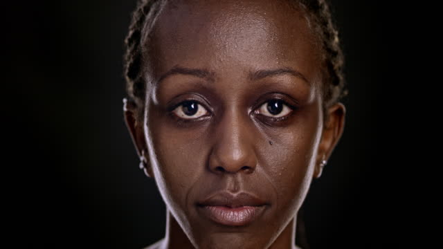 portrait of an african-american woman - front view stock videos & royalty-free footage