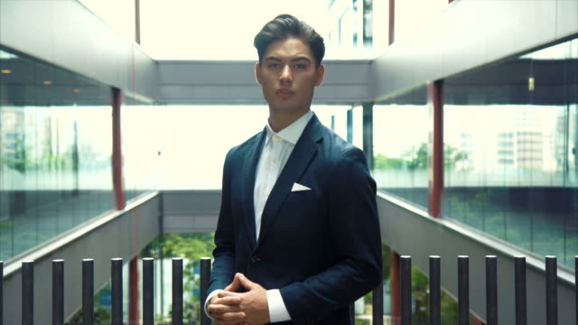 Portrait of an Asian Businessman (slow motion)