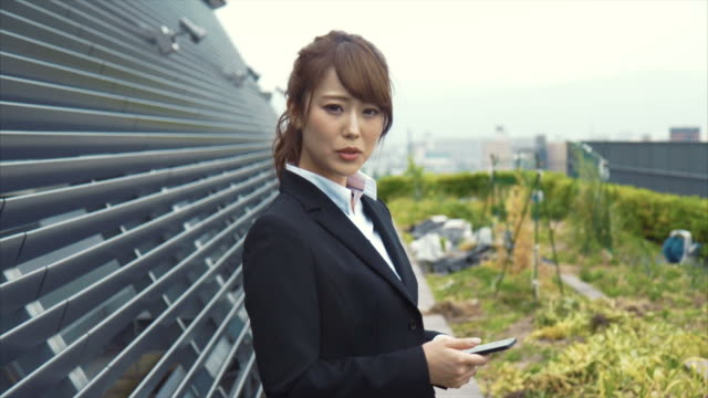 Portrait of an Japanese Businesswoman with Smart Phone
