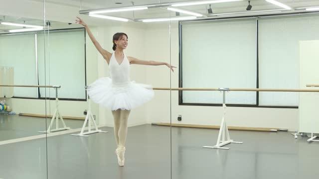 portrait of asian ballet dancer - eastern european culture stock videos & royalty-free footage