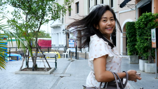 portrait of  Asian mature woman , weekend activity