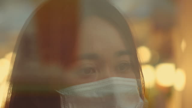 portrait of asian woman with mask - smog stock videos & royalty-free footage