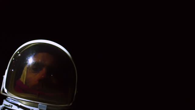 portrait of astronaut in space suit - oxygen tank stock videos and b-roll footage