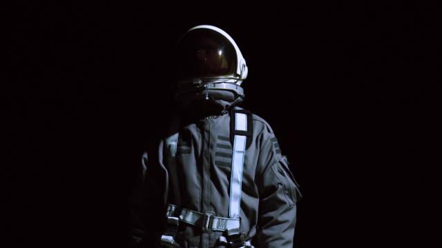 Portrait of astronaut in space suit