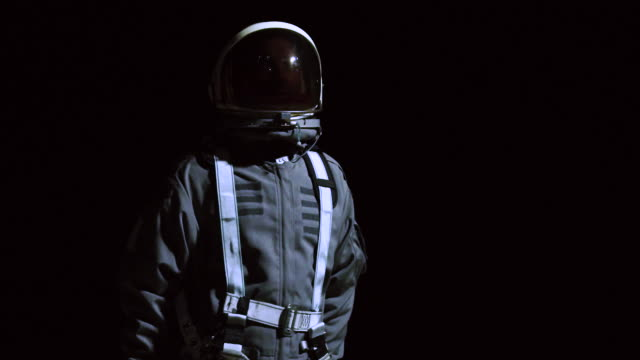 portrait of astronaut in space suit - laguna beach california stock videos & royalty-free footage
