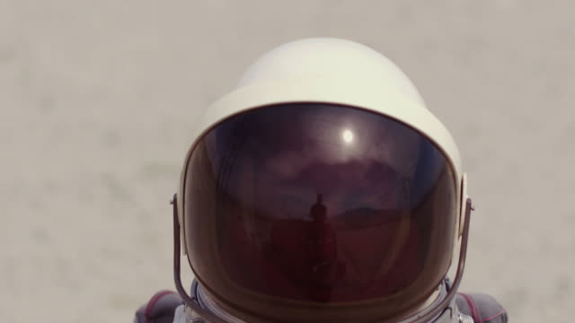 portrait of astronaut on mars - exploration stock videos & royalty-free footage