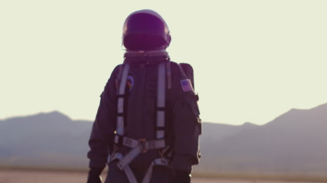 portrait of astronaut on mars - atmosphere filter stock videos & royalty-free footage