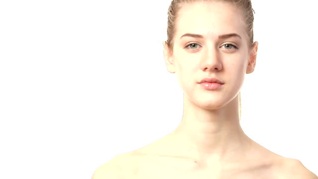 portrait of beautiful woman - shoulder stock videos and b-roll footage