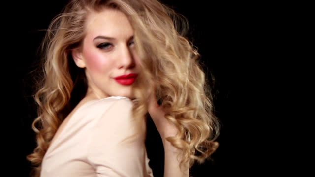 portrait of beautiful woman - fashion model stock videos & royalty-free footage