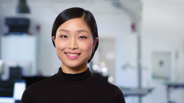portrait of beautiful young asian businesswoman - portrait stock videos & royalty-free footage