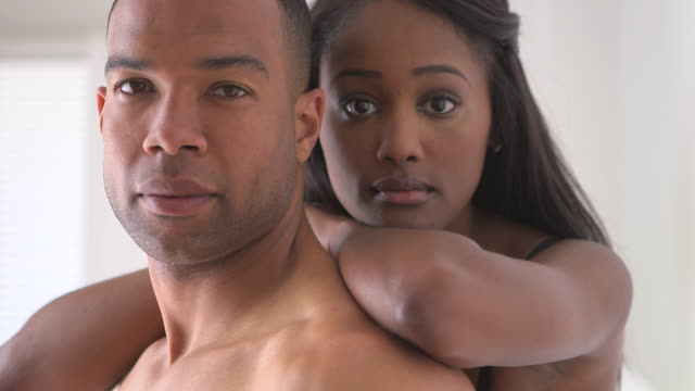 Portrait of black couple standing
