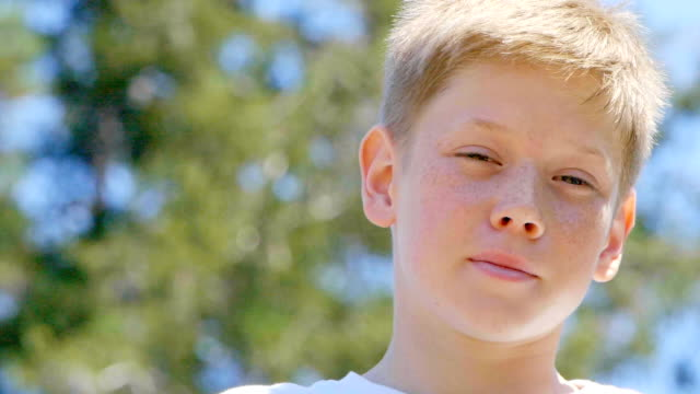 portrait of boy - 12 13 years stock videos & royalty-free footage