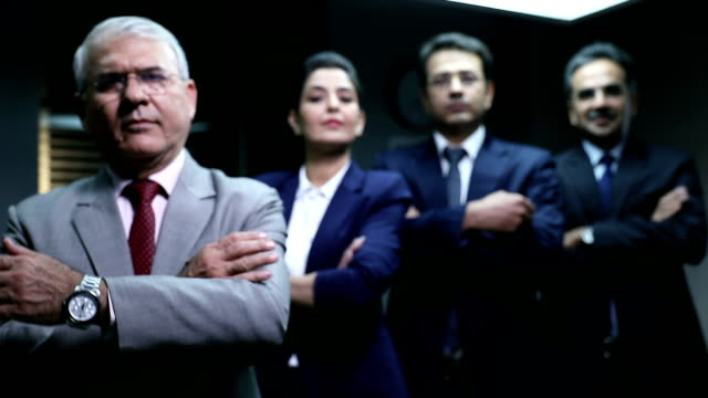 portrait of businessmen and businesswoman, delhi, india - authority stock videos & royalty-free footage