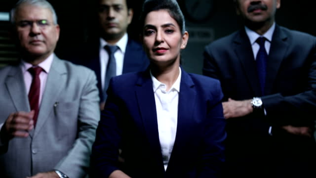 Portrait of businesswoman handshaking, Delhi, India