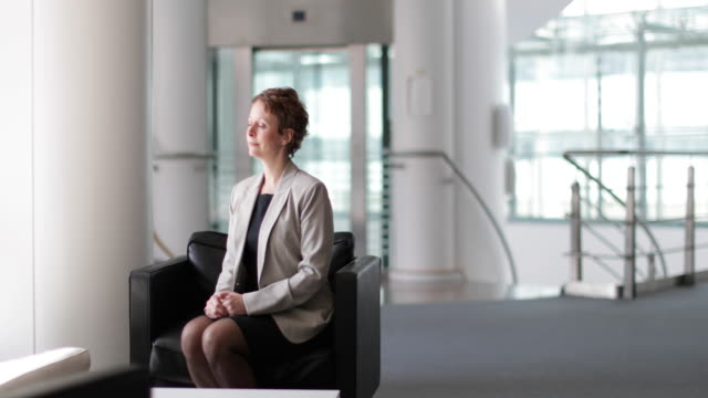 portrait of businesswoman in a modern office - authority stock videos and b-roll footage