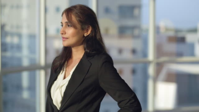 stockvideo's en b-roll-footage met ms portrait of businesswoman / singapore - indisch subcontinent etniciteit