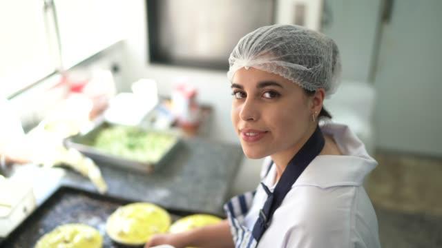 portrait of chef preparing pie - preparing food stock videos & royalty-free footage