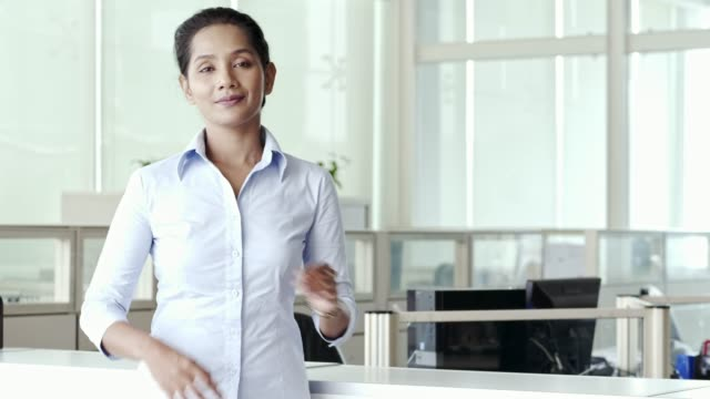portrait of confident executive with arms crossed - malaysian ethnicity stock videos & royalty-free footage
