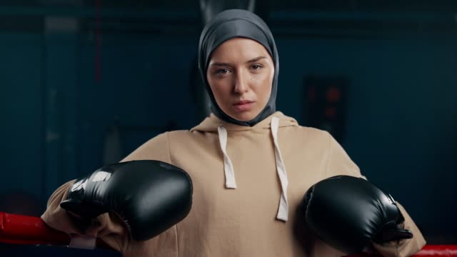 portrait of confident female boxer - sportsperson stock videos & royalty-free footage