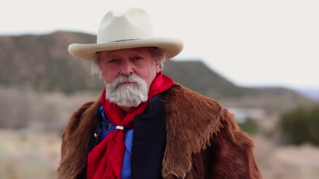 MS PAN Portrait of cowboy / Santa Fe, New Mexico, United States